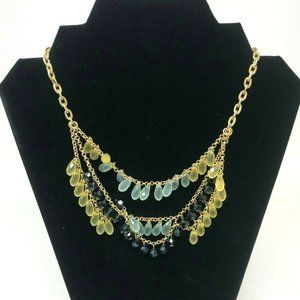 Lia Sophia Layered Cascading Bib Necklace
